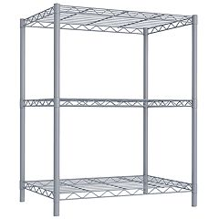 Home Basics 3-Tier Steel Wire Storage Shelf