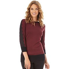 Women's Apt. 9® Lace Sleeve Sweater