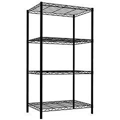Home Basics 4-Tier Steel Wire Storage Shelf