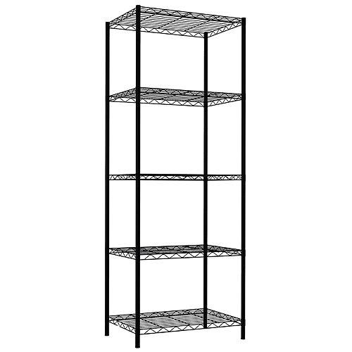 Home Basics 5-Tier Steel Wire Storage Shelf