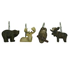 Bacova Tetons Wildlife Shower Curtain Hooks