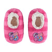 Toddler Girl My Little Pony Applique Plush Slipper Socks