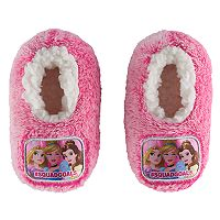 Disney Princess Belle, Cinderella & Rapunzel Toddler Girl Plush Slipper Socks