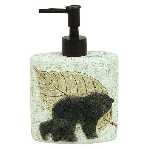 Bacova Tetons Bear Soap Pump
