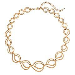 Napier Graduated Wavy Teardrop Link Necklace