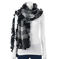 Apt. 9® Plaid Ruffled Wrap Scarf