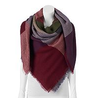 Apt. 9® Plaid Colorblock Blanket Square Scarf
