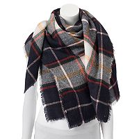 Apt 9® Pop Color Checker Plaid Square Blanket Scarf
