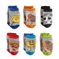 Toddler Boy The Emoji Movie Gene, Hi-5 & Poop 6-pk. Crew Socks