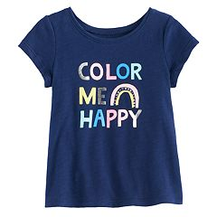Baby Girl Jumping Beans® Embellished Slubbed Graphic Tee