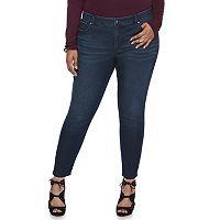 Plus Size Jennifer Lopez Ankle Skinny Jeans