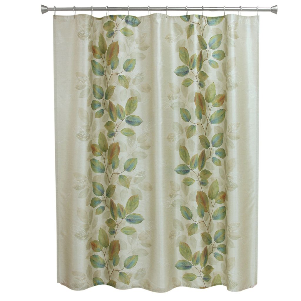 Bacova Waterfall Leaves Shower Curtain