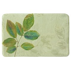 Bacova Waterfall Leaves Memory Foam Bath Rug