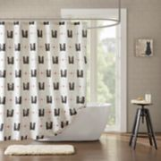 HipStyle Mimi Cat Cotton Print Shower Curtain