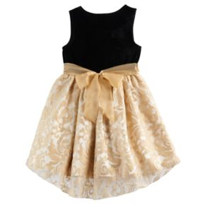 Girls 4-6x Nannette Velvety Knit Dress