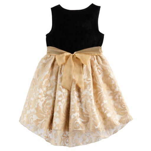 Girls 4-6x Nannette Velvety Knit Dress