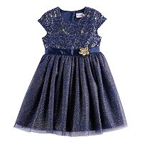 Girls 4-6x Nannette Sequin & Glitter Knit Dress