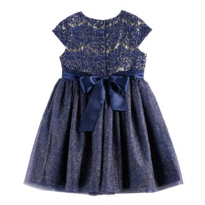 Girls 4-6x Nannette Sequin & Glitter Knit Dress