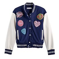 Girls 7-16 American Girl Patch Varsity Jacket