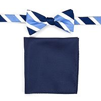 Men's Croft & Barrow® Patterned Pre-Tied Bow Tie & Pocket Square Set