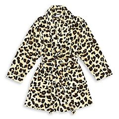 Linum Home Textiles Super Plush Leopard Print Bathrobe