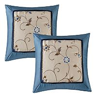 Madison Park Belle 2-piece Embroidered Floral Throw Pillow Set