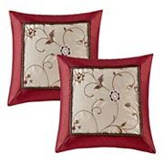 Madison Park Belle 2 pc Embroidered Floral Throw Pillow Set