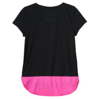 Plus Size SO® Blocked Droptail Dolman Tee
