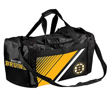 Forever Collectibles Boston Bruins Striped Duffle Bag