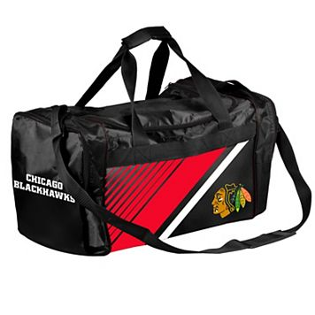 Forever Collectibles Chicago Blackhawks Striped Duffle Bag