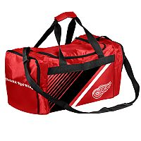 Forever Collectibles Detroit Red Wings Striped Duffle Bag