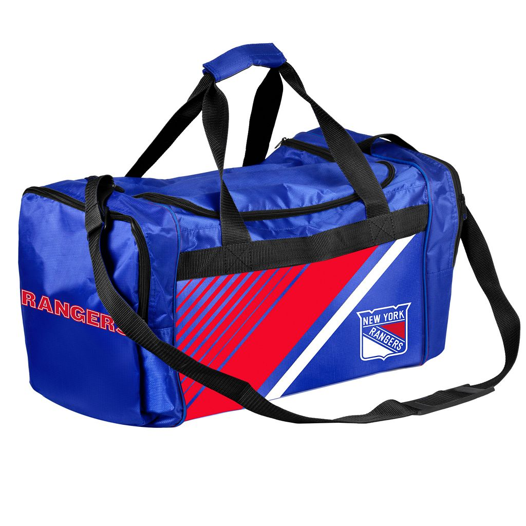 Forever Collectibles New York Rangers Striped Duffle Bag