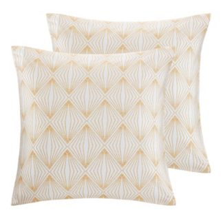 Madison Park Callista 2-piece Metallic Throw Pillow Set