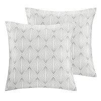 Madison Park Callista 2-piece Metallic Throw Pillow Set