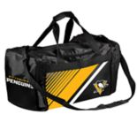 Forever Collectibles Pittsburgh Penguins Striped Duffle Bag