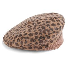 Women's David & Young Leopard Print Wool Beret