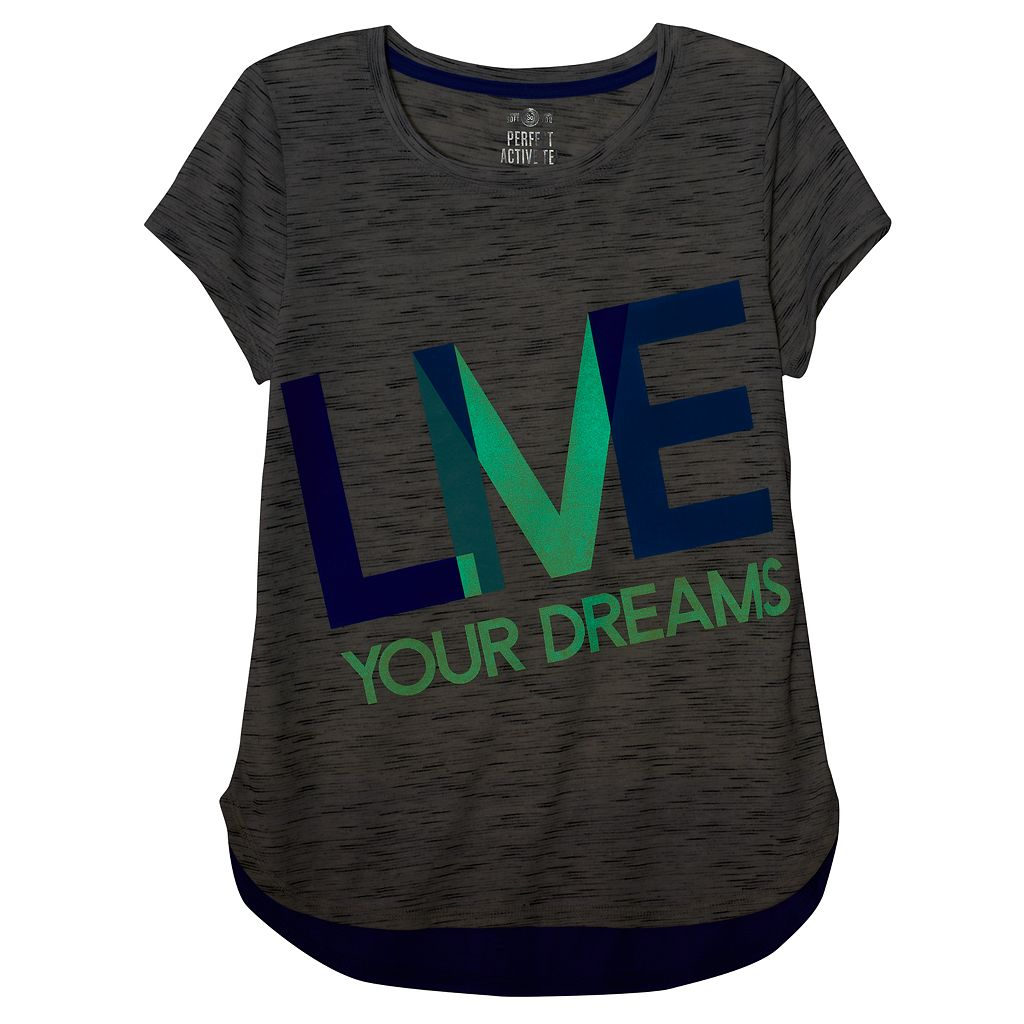 Plus Size SO® Glow-in-the-Dark Graphic Blocked Droptail Dolman Tee