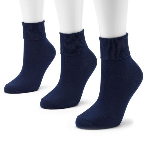 SONOMA life + style® 3-pk. Turncuff Anklet Socks