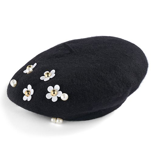 49829433ea4ae Women s David   Young Studded Daisy Wool Beret