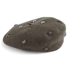 Women's David & Young Star Studded Wool Beret