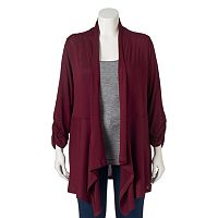 Juniors' Plus Size About A Girl Knit Cardigan