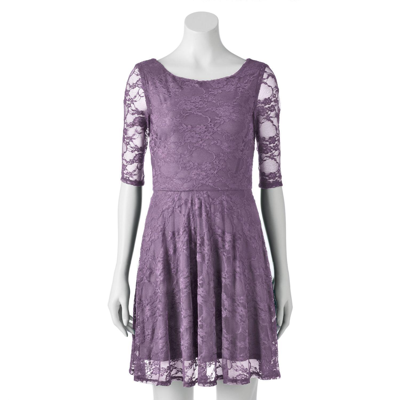 wrapper floral lace skater dress