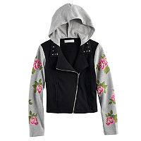 Girls 7-16 American Girl Rose French Terry Moto Jacket