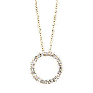 14k gold 1 carat tw igl certified diamond circle pendant necklace diamond circle pendant necklace sale aloadofball Gallery