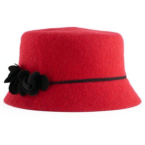 Women's Apt. 9® Floral Wool Knit Microbrim Hat