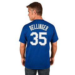 Men's Majestic Los Angeles Dodgers Cody Bellinger Name and Number Tee