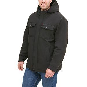 Big & Tall Levi's® Sherpa-Lined Softshell Trucker Jacket
