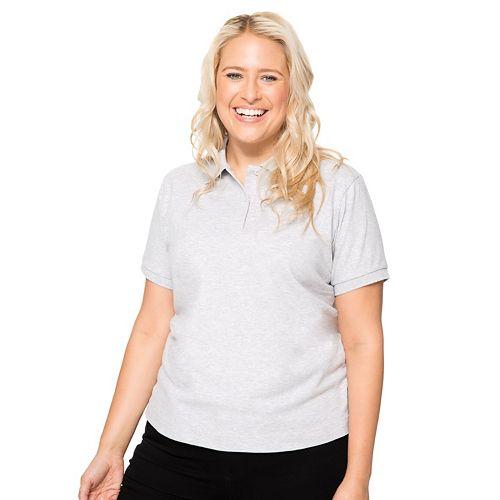 Juniors' Plus Size Lee Uniforms Stretch Polo