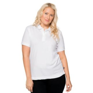 Juniors' Plus Size Lee Uniforms Stretch Polo