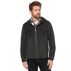 Big & Tall Levi's® Fleece Mixed Media Hooded Jacket